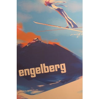 2016 Danish Modern Poster, Engelberg Ski Jumping For Sale