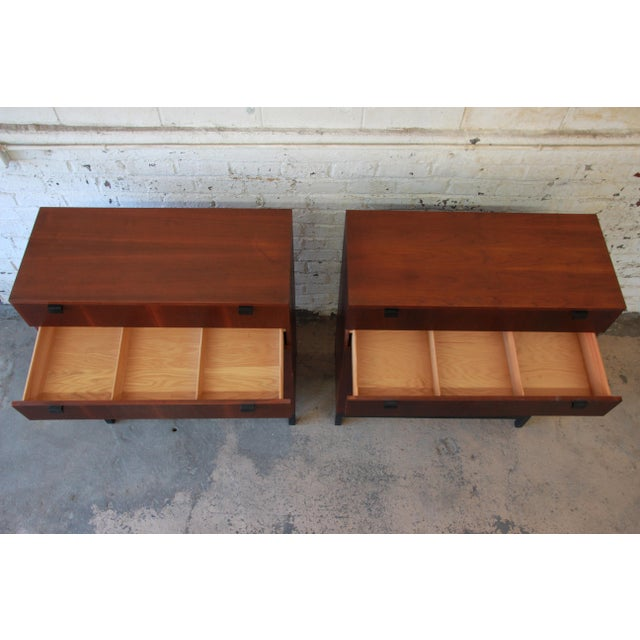 Brown Milo Baughman for Directional Rosewood Highboy Dressers - A Pair For Sale - Image 8 of 11