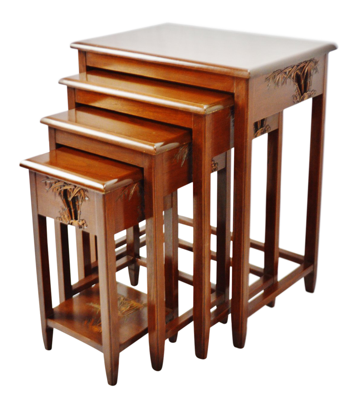 Carved Wood Chinese Nesting Tables