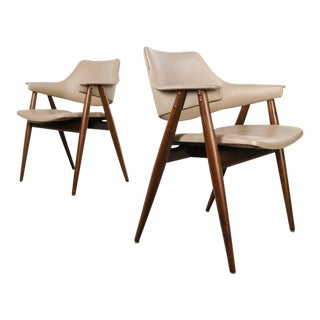 1960s Vintage Pierre Pauline for Thonet Bentwood Accent/Side Chairs- A Pair For Sale