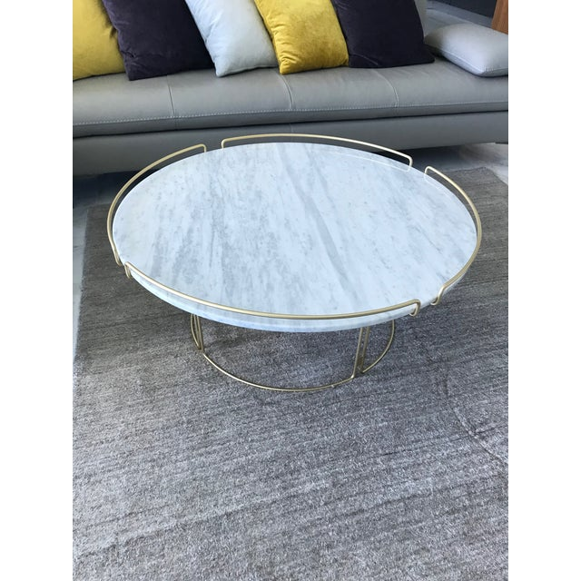Bijou Cocktail Table in Marble and Matte Gold by Roche Bobois For Sale - Image 12 of 13