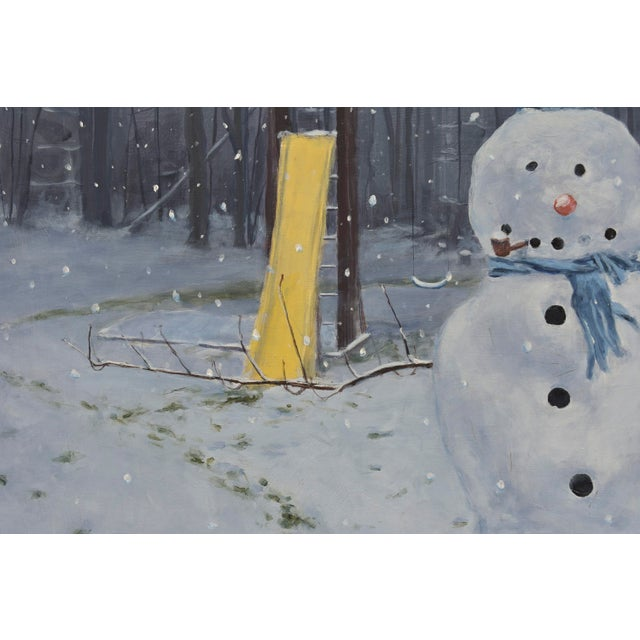 Painting of a Snowman - Image 5 of 7