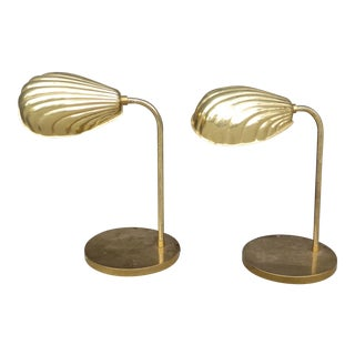 Vintage Mid-Century Modern Shell Lamps - a Pair For Sale