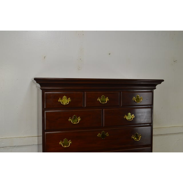 Chippendale Harden Chippendale Style Solid Cherry Tall Chest For Sale - Image 3 of 13