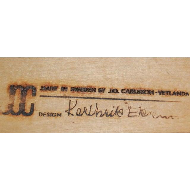 Karl Erik Ekselius Karl-Erik Ekselius Leather & Teak Arm Chair For Sale - Image 4 of 6