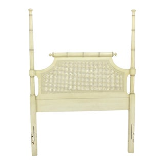 Mid Century Faux Bamboo Cream Headboard For Sale