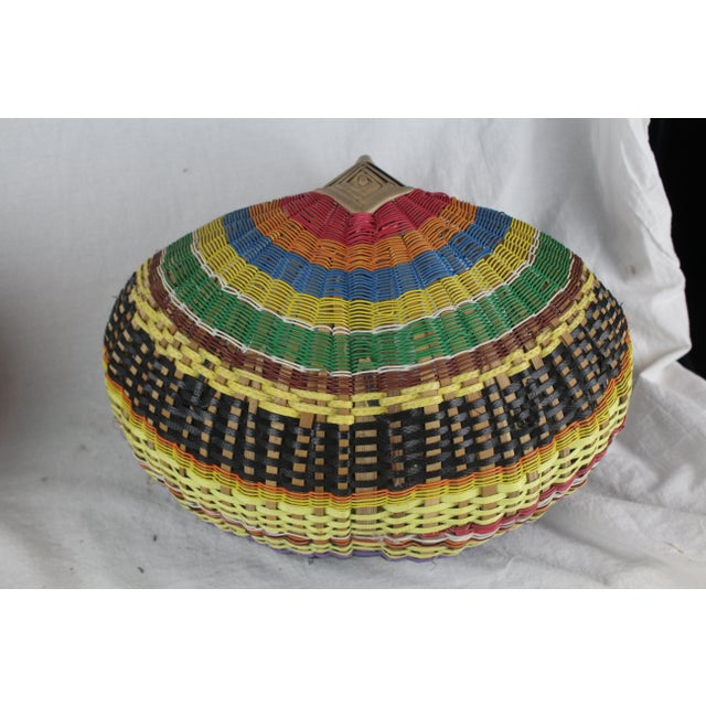 20th Century Zulu Telephone Wire Rainbow Basket For Sale - Image 4 of 7