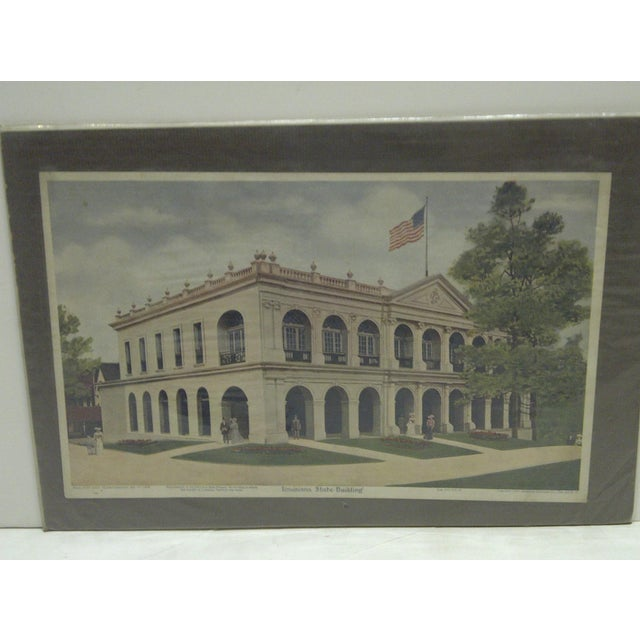 """Vintage """"Louisiana State Building"""" Print - Image 2 of 7"""