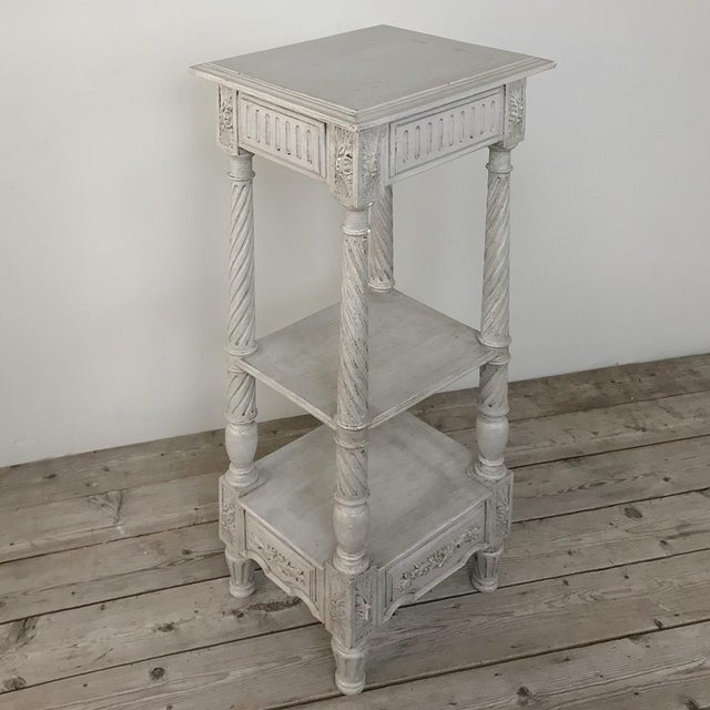 19th Century French Louis XVI Painted Pedestal For Sale - Image 11 of 13