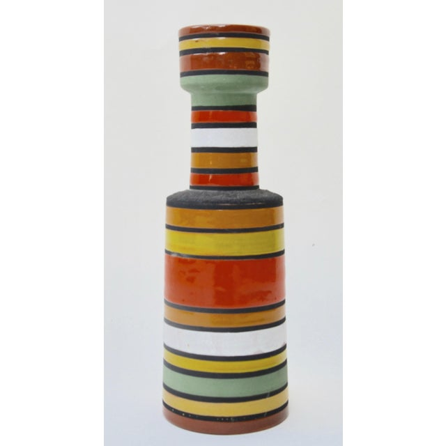 Aldo Londi Mid Century Aldo Londi Stripe Vase For Sale - Image 4 of 6