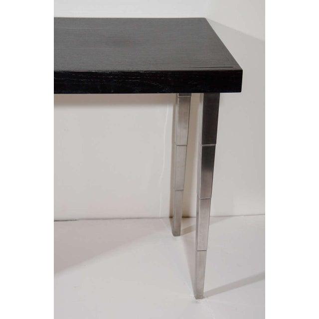 Aluminum Art Deco Vanity Table and Desk by Robsjohn-Gibbings for Widdicomb For Sale - Image 7 of 8