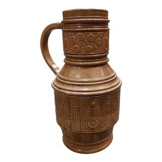 Mid 19th Century German Renaissance Revival Raeren Stoneware Kurfursten Krug For Sale