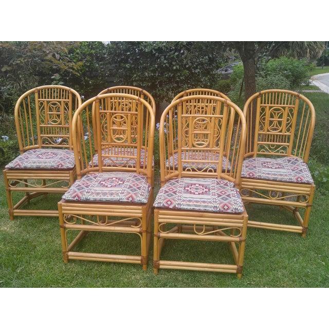 Brighton Rattan Chairs - Set of 6 - Image 2 of 5