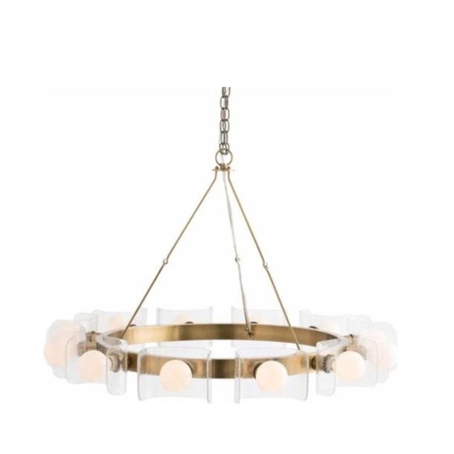 Brass Contemporary Arteriors Home Valerie Chandelier For Sale - Image 8 of 8