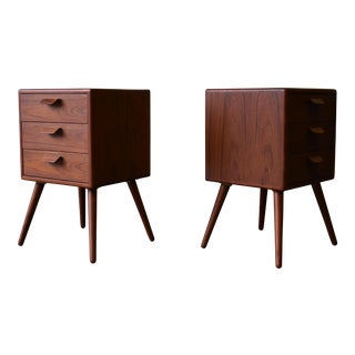 Mid Century Modern Teak Nightstands End Tables - A Pair