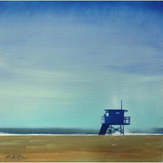 """Blue Tower Blue Sky"" Original Artwork by Kathleen Keifer For Sale"
