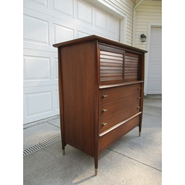 1960s Mid-Century Modern Rway Tall Chest of Drawers -Custom Made For Sale - Image 5 of 13