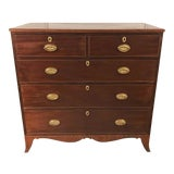 Image of 18th Century George III Mahogany Chest of Drawers For Sale
