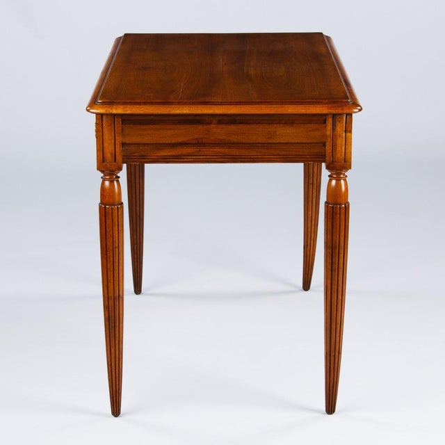 Early 20th Century French Louis XVI Style Walnut Desk, Early 1900s For Sale - Image 5 of 11