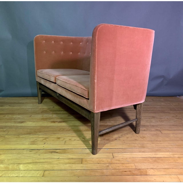 Wood Arne Jacobsen, Flemming Lassen 2-Seat Mayor Sofa For Sale - Image 7 of 10