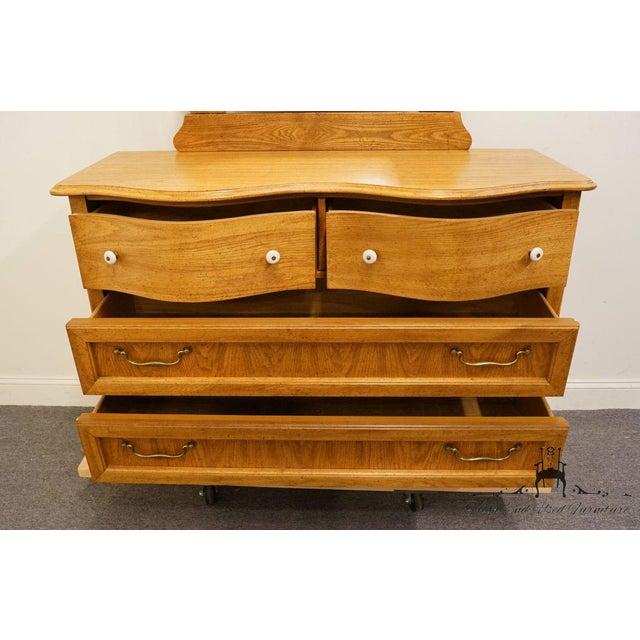 Pulaski Furniture Keepsakes Collection Oak Dresser & Wishbone Mirror For Sale In Kansas City - Image 6 of 13