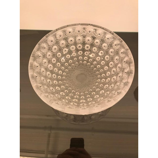 """Lalique Signed Lalique """"Nemours"""" Crystal Glass Bowl For Sale - Image 4 of 11"""
