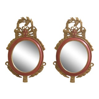 Carvers Guild French Style Decorator Mirrors - a Pair For Sale