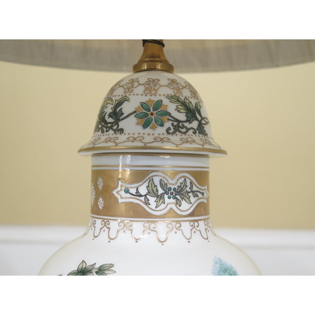 Chelsea House Inc Chelsea House Chinoiserie Decorated Porcelain Table Lamp For Sale - Image 4 of 11