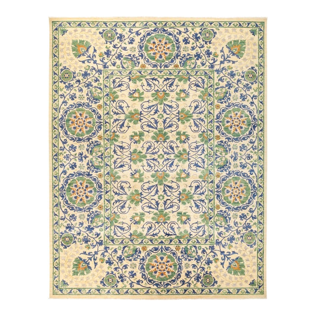 "Suzani Hand Knotted Area Rug - 10' 3"" X 12' 0"" - Image 1 of 4"