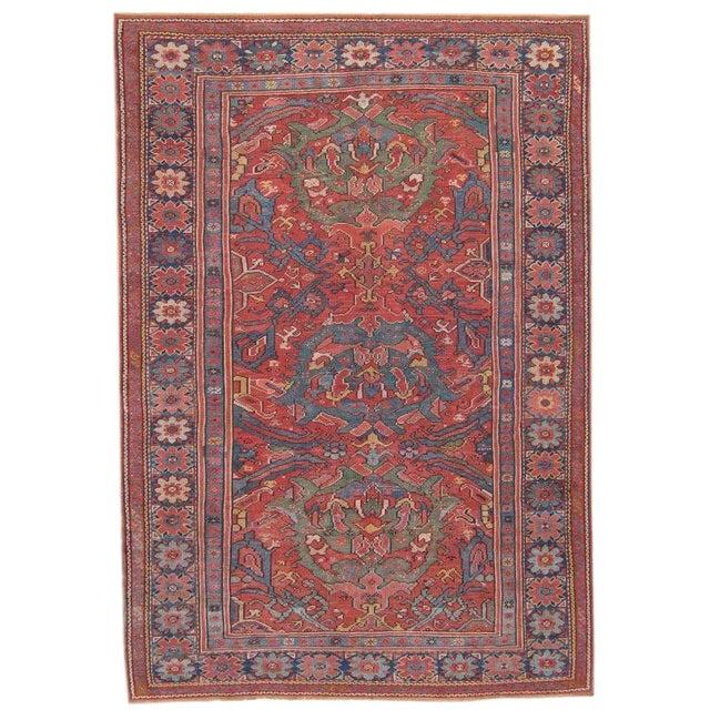 Antique Oushak Carpet For Sale