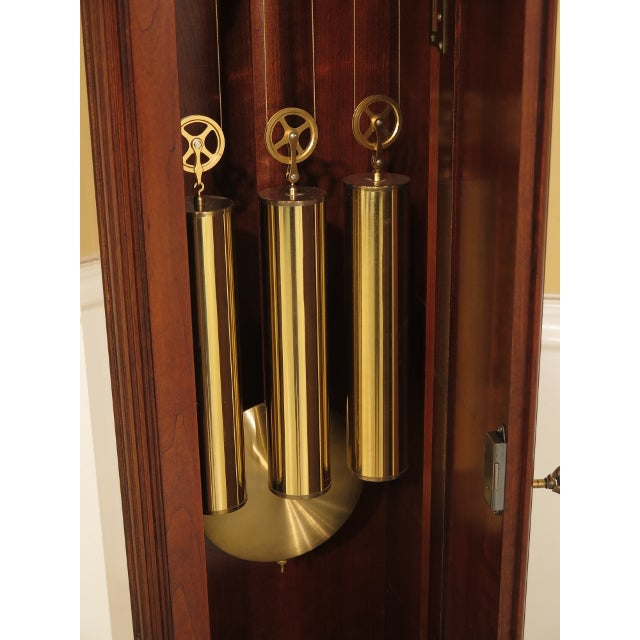 Brown Sligh John Goddard Cherry Grandfather Clock For Sale - Image 8 of 13