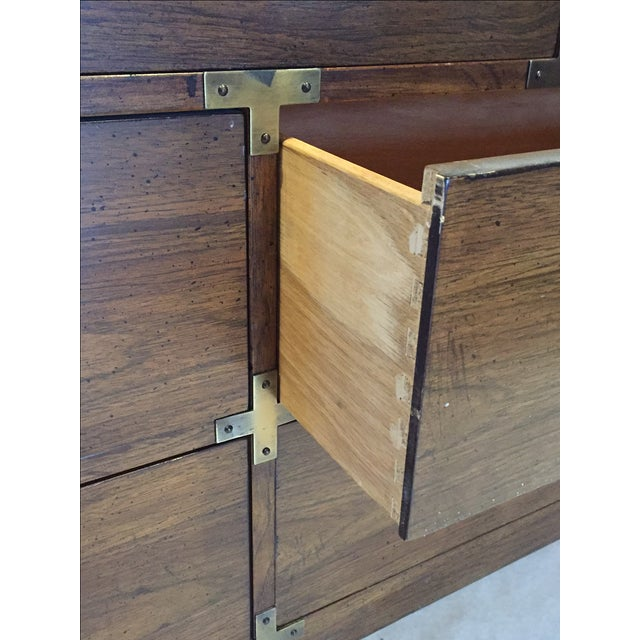 Vintage Iconic Campaign Dresser Low Credenza With 7 Drawers - Image 5 of 10