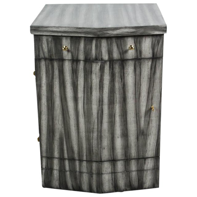 Customizable Paul Marra Pinnacle Nightstand in Zebra Finish For Sale