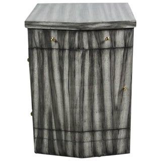 Paul Marra Pinnacle Nightstand in Zebra Finish For Sale