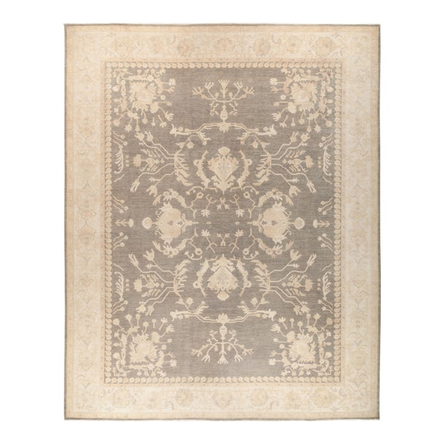 "Oushak Hand Knotted Area Rug - 11' 10"" X 14' 7"" - Image 1 of 4"