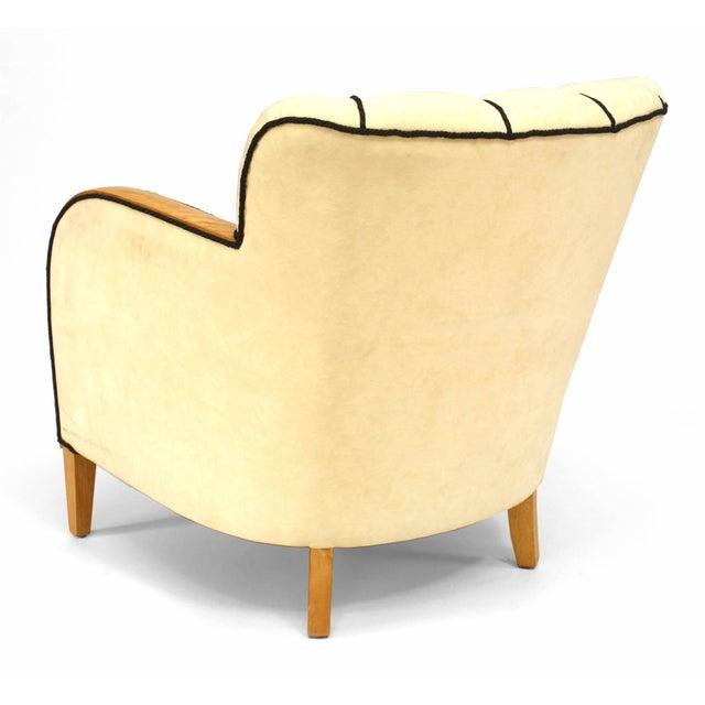 Swedish Biedermeier Maple Club Chair For Sale - Image 4 of 5