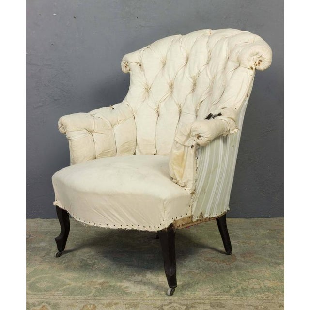 Pair of French Armchairs in Muslin - Image 9 of 11