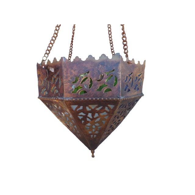 Turkish Vintage Turkish Brass Pendant For Sale - Image 3 of 5