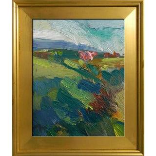 Jose Trujillo Oil Painting Modern California Impressionist Pastoral Hillside For Sale