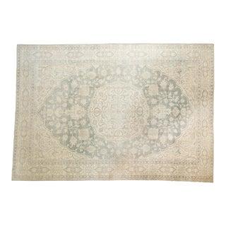"Vintage Distressed Oushak Carpet - 6'6"" X 9'7"" For Sale"
