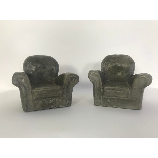 Mid-Century Modern Miniature Lounge Chair Ceramic Sculptures - a Pair For Sale - Image 3 of 10
