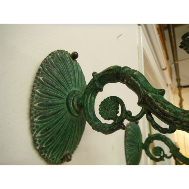 Vintage Electric Cast Iron Wall Sconces - 4 - Image 4 of 9