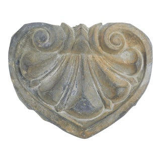 Antique Zinc Heart Shape Architectural Fragment For Sale