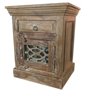 Boho Chic Solid Rosewood Low Side Cabinet For Sale