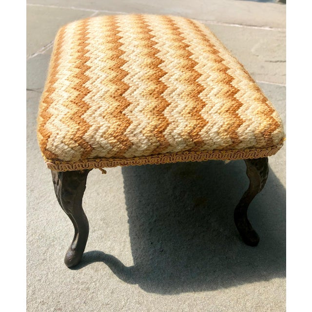 Marvelous 19Th Century Petite Flame Stitch Needlepoint Foot Stool Cjindustries Chair Design For Home Cjindustriesco