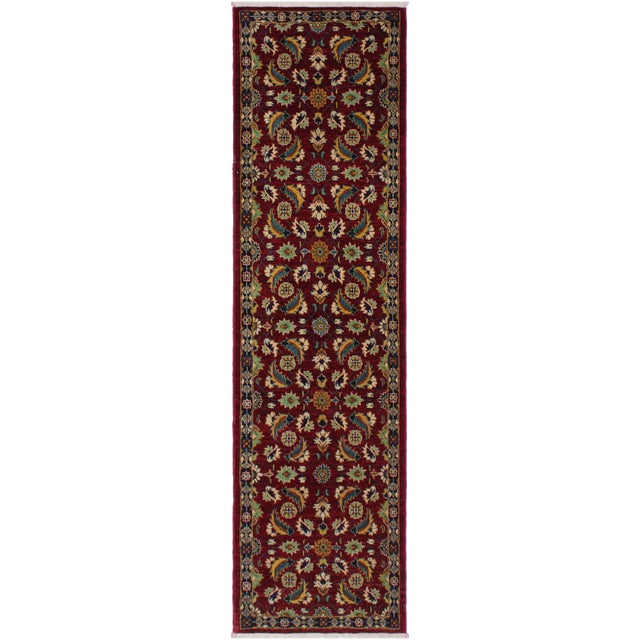 Red Ewa Red Hand-Knotted Wool Rug - 2'7 X 9'7 For Sale - Image 8 of 8