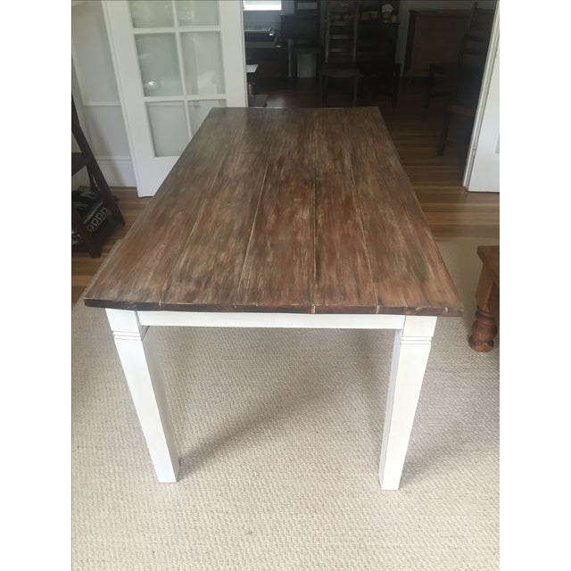 Antiqued Farmhouse Dining Table - Image 6 of 8