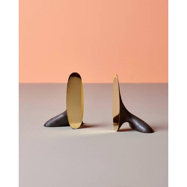 Brass Carl Auböck Bookends #3653 For Sale - Image 7 of 8
