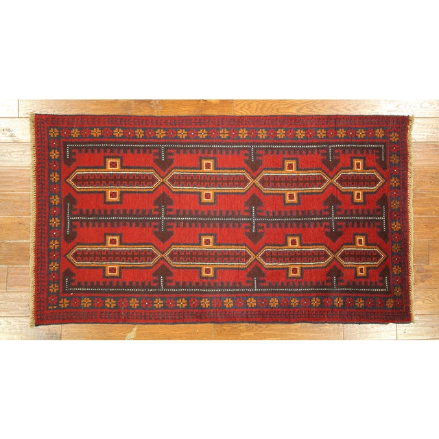 "Persian Balouch Hand Made Wool Rug - 3'5"" x 6'4"" - Image 2 of 3"