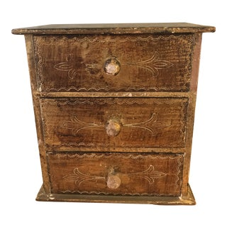 Vintage Italian Florentine Miniature Chest of Drawers For Sale